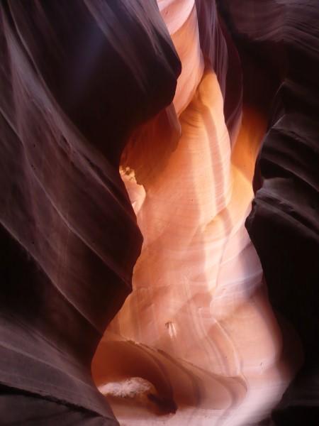 En la entrada del Upper Antelope Canyon
