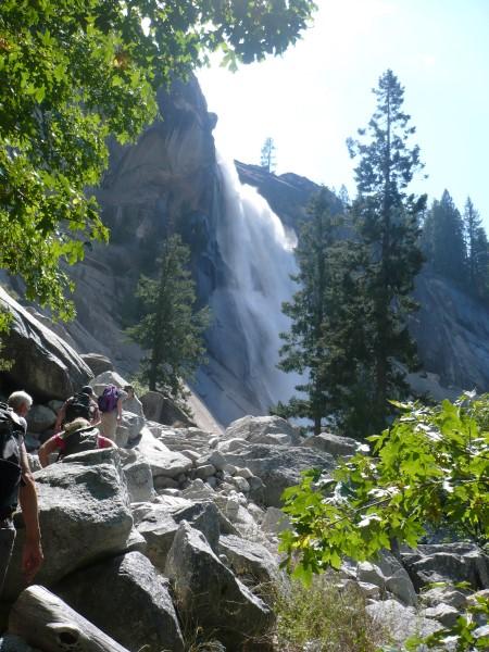 Subido a la cima de Nevada Falls