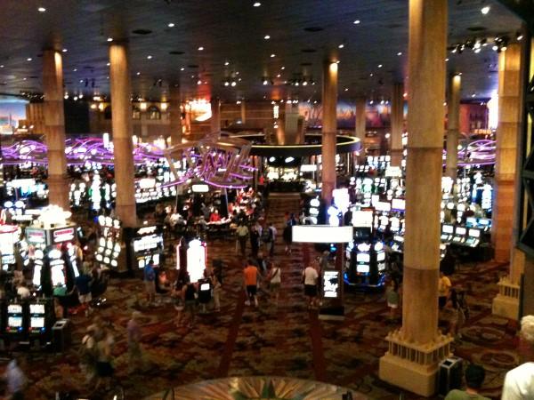 En el interior de un Casino de las Vegas