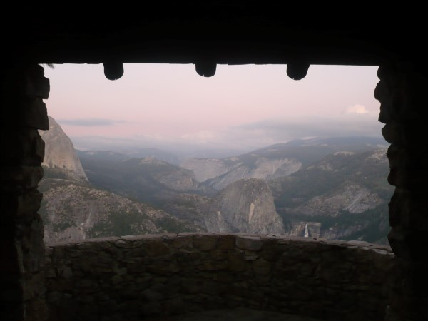 Vistas desde el Museo -cobertizo- de Glacier Point