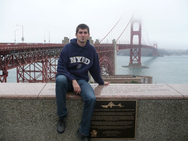 En el famoso Golden Gate de San Francisco
