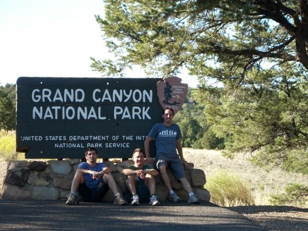 Llegando al Gran Cañón del Colorado