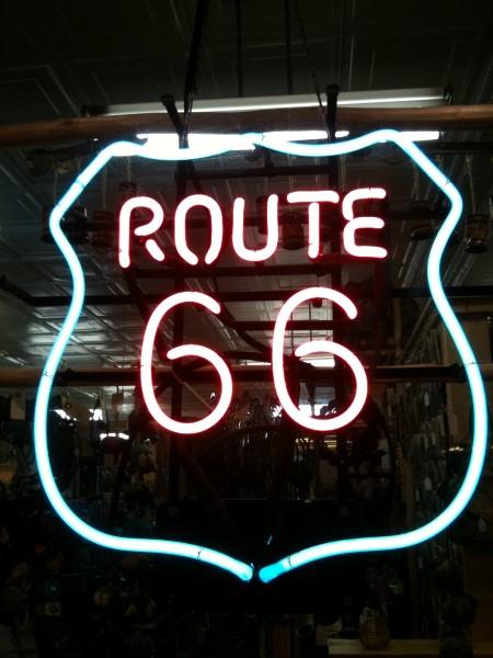 Cartel de la mítica ruta 66