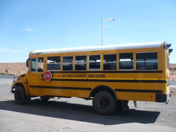 Típico bus del colegio americano