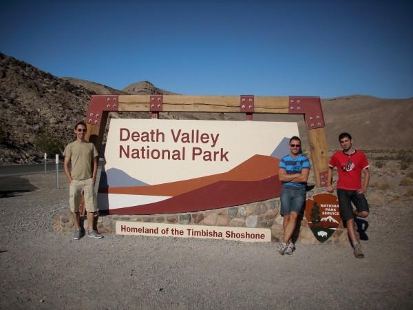 Entrada al Parque Nacional de Death Valley
