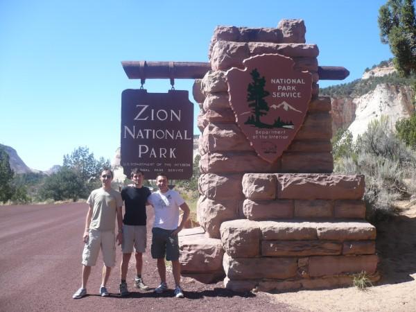 Entrando en el Parque Nacional de Zion