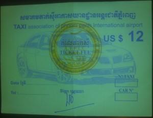 Ticket Taxi Aeropuerto Phnom Penh