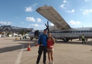Avión de hélice en el que volamos a Siem Reap