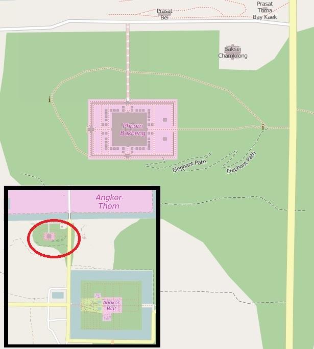 Mapa Area Phnom Bakheng