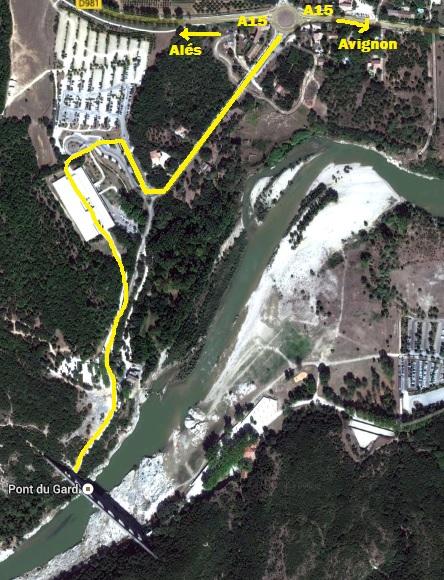 Plano situación Pont du Gard