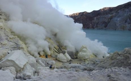 Desde dentro del cráter