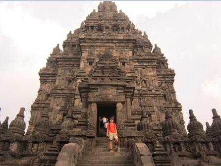En el interior del Prambanan