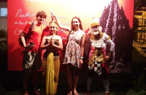 Accediendo al Ballet Rampana de Prambanan