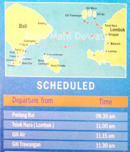 Horarios del barco rápido de la compañia Mahi Mahi