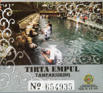 Ticket Tirta Empul