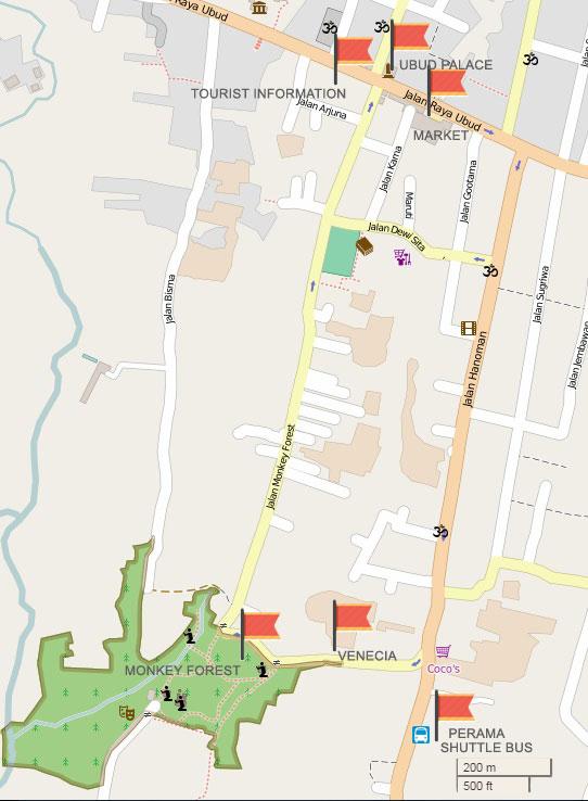 Mapa de Ubud