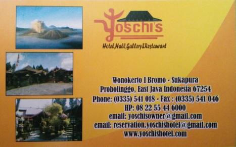 Tarjeta del hotel Yoschis