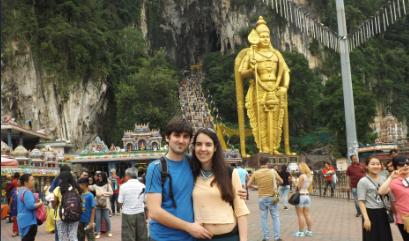 Nosotros en las Batu Caves
