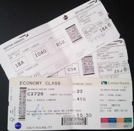 Boarding Pass hastas Kuala Lumpur