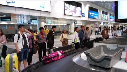 Esperando por nuestras maletas