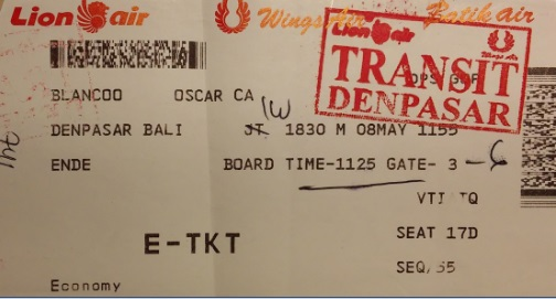 Boarding Pass Denpasar - Ende