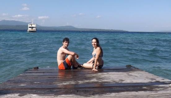 Nuestro barco al fondo, Isla de Satonda