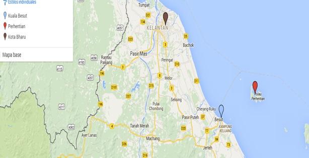 Mapa situación, cómo llegar a Perhentians