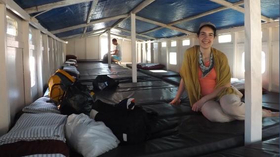 Las camas de nuestro barco