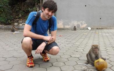 Yo con un mono
