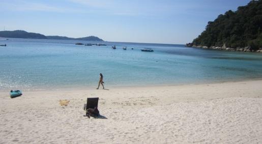 La playa del Perhentian Island Resort para nosotros sola