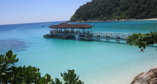 Vistas del embarcadero de Perhentian Island Resort