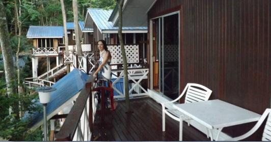 Terraza de nuestro bungalow