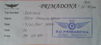 Ticket bus nocturno a Makassar
