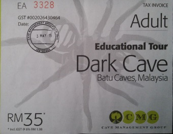 Ticket entrada a la Dark Cave