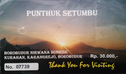 Ticket Sunrise Borobudur