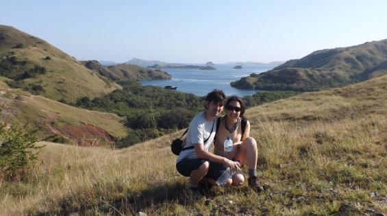 Vistas desde lo más alto de la Isla de Rinca