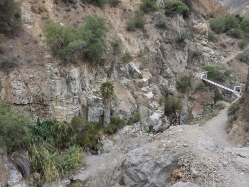 Cruzando otro puente sobre el río Colca