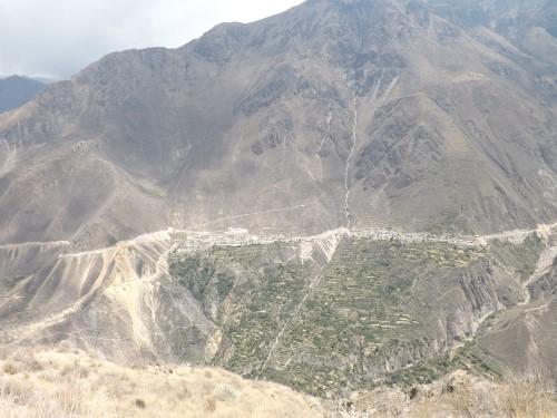 Vistas de Malata y Cosñirhua desde el Mirador de San Miguel