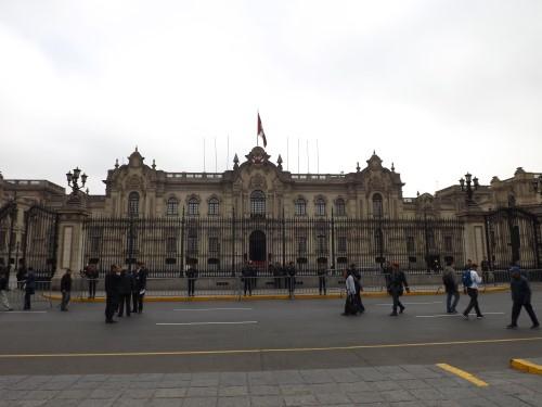 Palacio de Gobierno en la Plaza de Armas