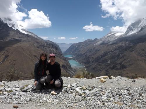 Vistas del valle de Llanganuco desde el Portachuelo