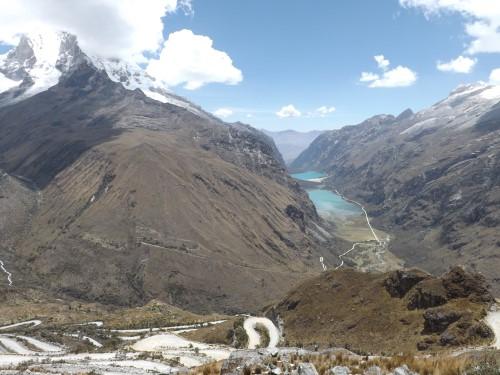 Vistas desde el Portachuelo de Llanganuco