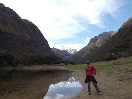 Un pequeño lago en Quebrada de Huaripampa