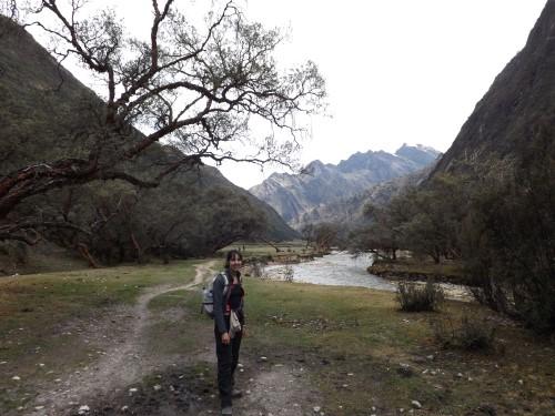 Cerca del río en la Quebrada de Huaripampa