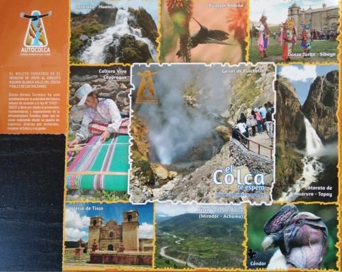 Boleto turístico Valle del Colca