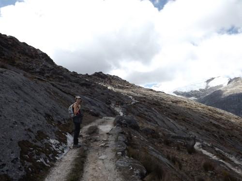 Camino en zig zag hasta Punta Unión