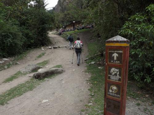 Llegando a Wayllabamba