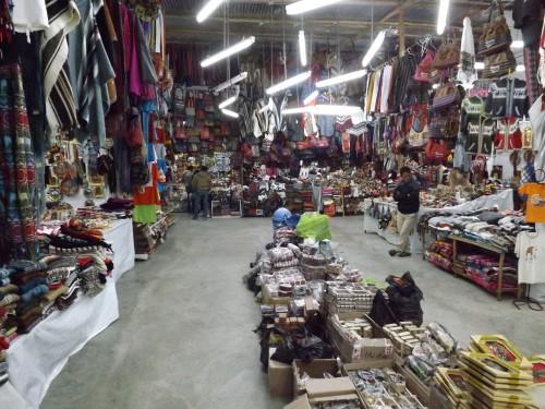 Mercado de artesanía en Huaraz