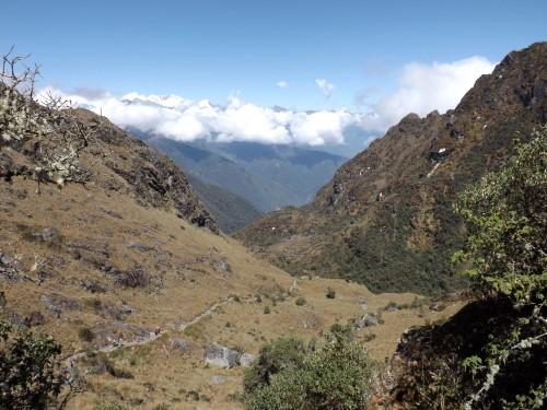 Vistas del descenso desde Runkurakay hasta Sayacmarca