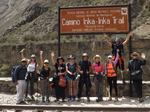 Comienzo del Inka Trail Km 82
