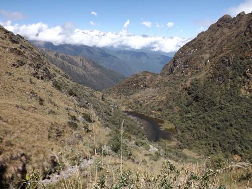 Vistas del lago de Caquacha, llegando a Sayacmarca